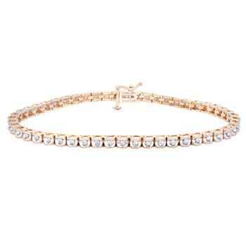 T W Diamond 14k Gold Tennis Bracelet