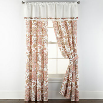 JCPenney Home Amelia Rod-Pocket Single Curtain Panel