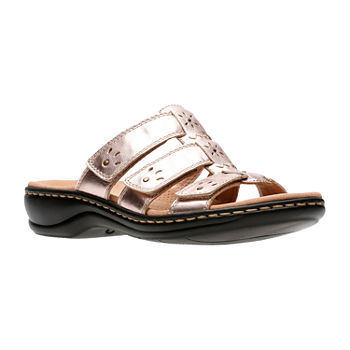 8c72e58ee043 Clarks Womens Leisa Grace Slide Sandals. Add To Cart. New. wide width  available. Rose Gold