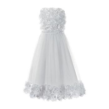 Keepsake First Communion Girls Embellished Sleeveless A-Line Dress - Big Kid