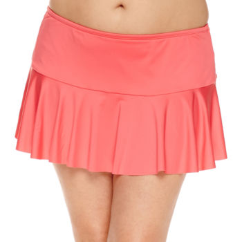 plus size orange swimsuits & cover-ups for women - jcpenney