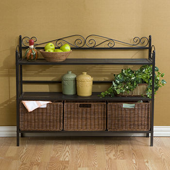 Southlake Furniture 3-Drawer Bakers Rack