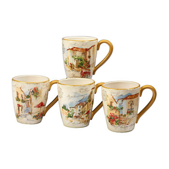 Certified International Piazzette 4-pc. Coffee Mug