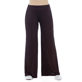 24/7 Comfort Apparel Womens Flare Palazzo Pant-Maternity