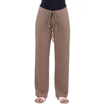 24/7 Comfort Apparel Womens Flare Drawstring Pants - Maternity