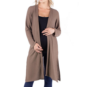 24/7 Comfort Apparel Womens Long Sleeve Knee Length Cardigan