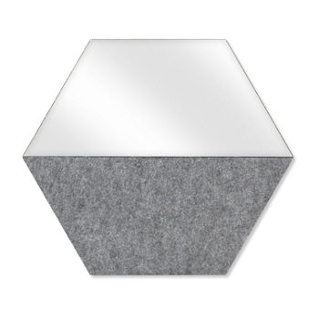 Hexagon Mirror Bulletin Board