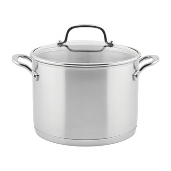 Kitchen Aid 3-Ply Stainless Steel Stainless Steel Dishwasher Safe Stockpot