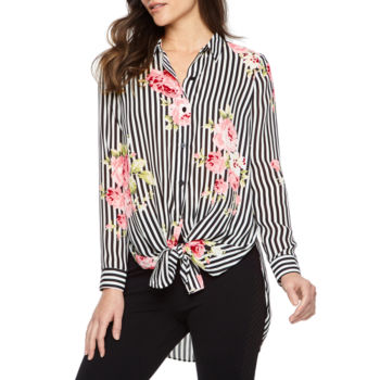 Misses Size Floral Tops For Juniors Jcpenney