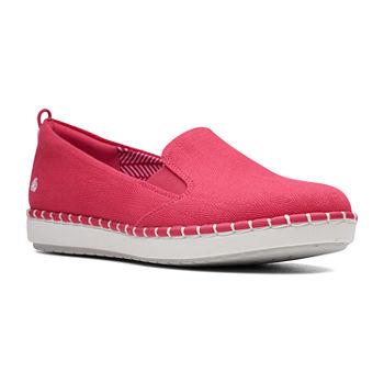 Shoe Round Clarks Toe Womens On Glow Step Slip 5jLA4R