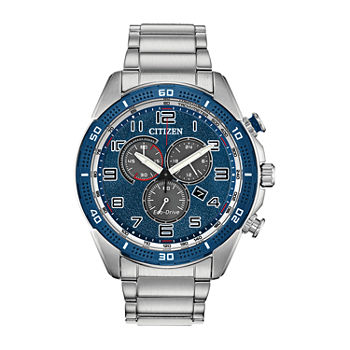 Drive from Citizen Mens Chronograph Silver Tone Stainless Steel Bracelet Watch - At2440-51l