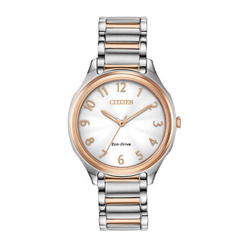 Drive from Citizen Womens Two Tone Stainless Steel Bracelet Watch - Em0756-53a