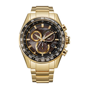 Citizen Mens Chronograph Gold Tone Stainless Steel Bracelet Watch - Cb5912-50e