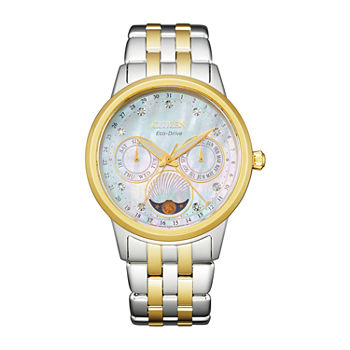 Citizen Womens Diamond Accent Two Tone Stainless Steel Bracelet Watch - Fd0004-51d