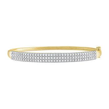 2 CT. T.W. Genuine Diamond 10K Gold Bangle Bracelet