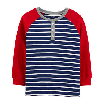 Carter's Little Boys Long Sleeve Henley Shirt