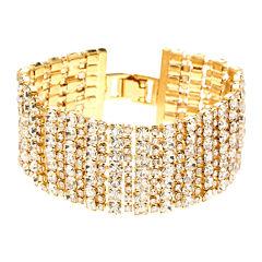 Natasha Crystal Multi-Row Alternating Bracelet