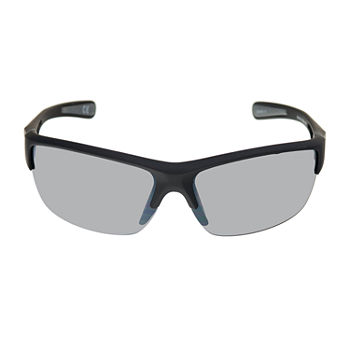 Xersion Mens Half Frame Wrap Around Sunglasses
