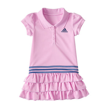 adidas Toddler Girls Short Sleeve T-Shirt Dress