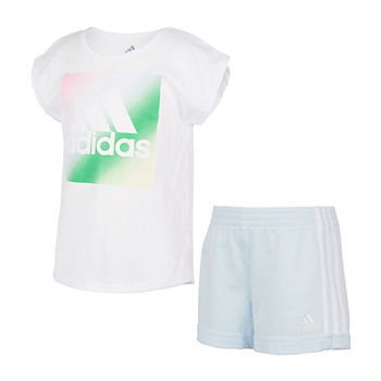 adidas Toddler Girls 2-pc. Short Set