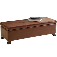 Stratford Bonded Leather Storage Bench
