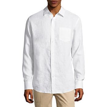 Linen White Shirts For Men Jcpenney