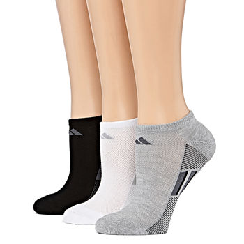 adidas 3 Pack Superlite No-Show Socks - Womens
