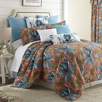 island bedding bed comforter tropical p sea set ivory