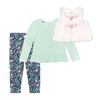 Nannette Baby Toddler Girls 3-pc. Legging Set