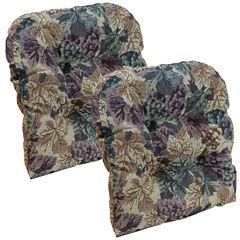 Klear Vu Cabernet Universal Chair Pad, Set of 2