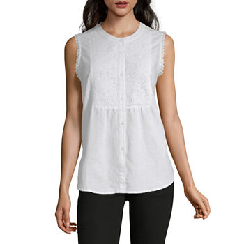 9642a92f817 Liz Claiborne Sleeveless Tops for Women - JCPenney