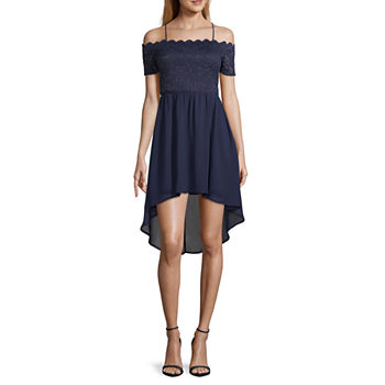 City Triangle-Juniors Social Short Sleeve Dress Set