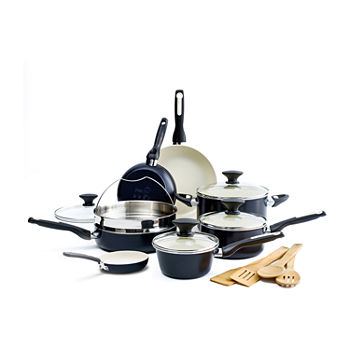 GreenPan Rio Ceramic 16-pc. Aluminum Dishwasher Safe Non-Stick Cookware Set