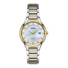 Seiko Womens Two Tone Bracelet Watch-Sut318