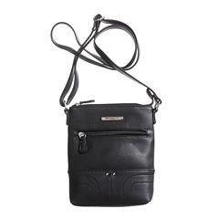 Stone And Co Ns Single Zip Pebble Leather Mini Crossbody Bag