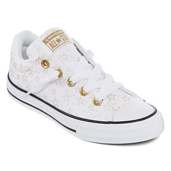 best website b496a afd3b Converse Chuck Taylor All Star Rainbow Ice Toddler Girls Hook and Loop  Sneakers. Add To Cart. White Blk Gold.  40
