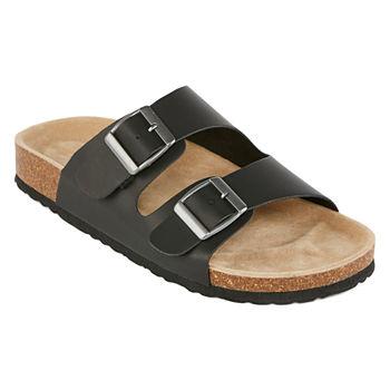 0e76f2104865f Arizona Black Women s Sandals   Flip Flops for Shoes - JCPenney