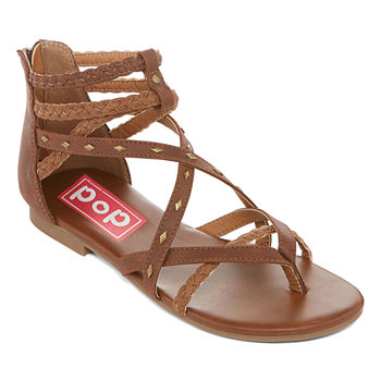 f4a1dfd85caa1 Pop Womens Amica Ankle Strap Flat Sandals. Add To Cart. New. Tan