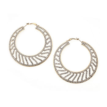 Bijoux Bar Clear 2 1 Inch Hoop Earrings