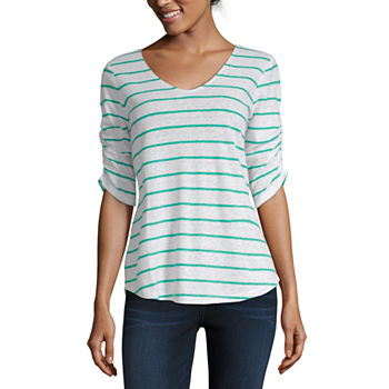 6aaa9f27620 Liz Claiborne Stripe Tops for Women - JCPenney
