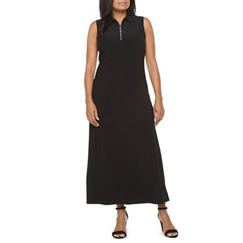 MSK-Petite Sleeveless Maxi Dress