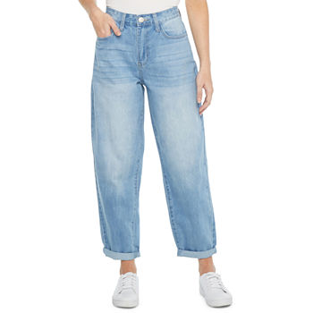Ymi Womens High Rise Straight Relaxed Fit Jean - Juniors