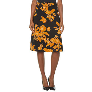 Liz Claiborne Womens High Rise A-Line Skirt