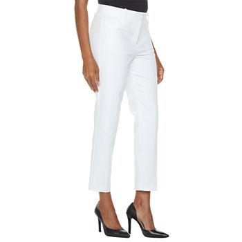 Liz Claiborne Women's Slim Fit Ankle Pant (White)