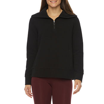 Stylus Womens Long Sleeve Quarter-Zip Pullover