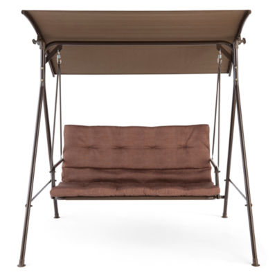 outdoor oasis newberry two seat canopy swing