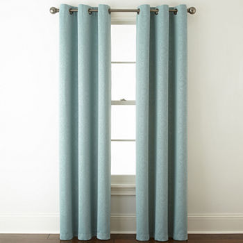 Home Expressions Norris Energy Saving Blackout Grommet-Top Set of 2 Curtain Panel