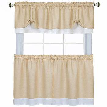 Darcy 3-pc. Rod-Pocket Kitchen Curtain Set