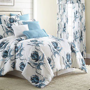blue duvet product green printed tropical leaves cotton piece brocade sets bedding covers designer egyptian fresh