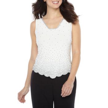 Misses Size Interlock Tops For Women Jcpenney